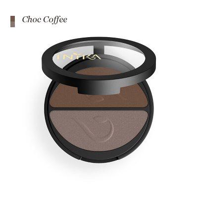 INIKA Pressed Mineral Eye Shadow-Duo - Choco Coffee
