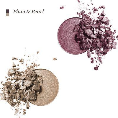 INIKA Pressed Mineral Eye Shadow Duo - Plum & Pearl