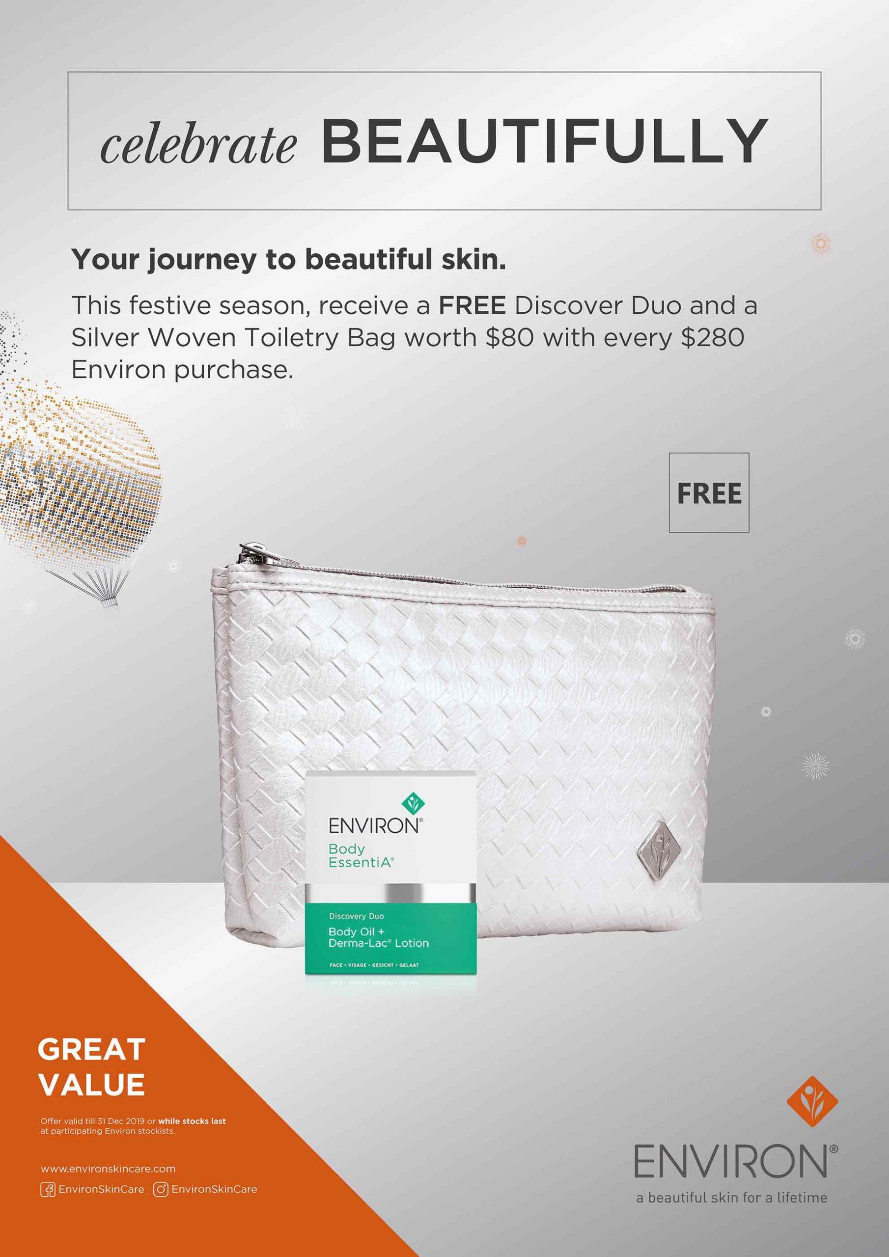 Environ's Free Gift Bag Festive Promo 2019